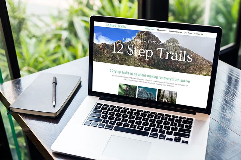 12 step trails | OmniBrand website design portfolio